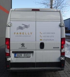 Reklaamkleebised kaubiku tagaküljel - Farelly