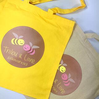 Triibu&Liine päevahoid logoga kotid