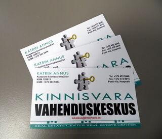 Visiitkaardid Kinnisvara Vahenduskeskus